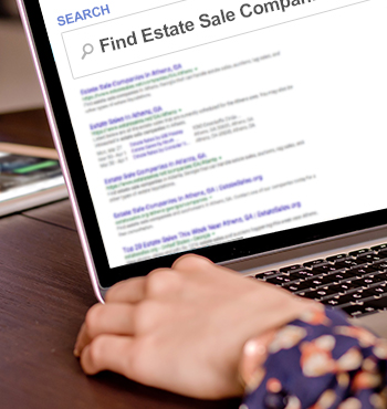 searching the internet to hire a professional estate sale company