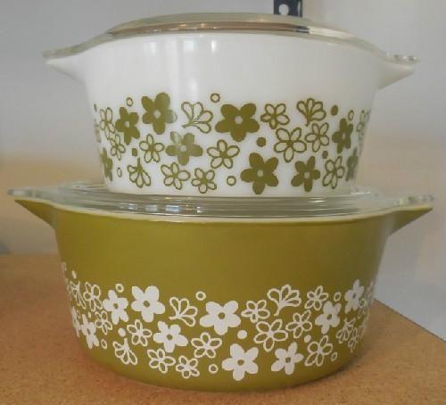 Vintage Pyrex Spring Blossom Cinderella Bowls