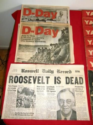 Newspaper Headline: Roosevelt is Dead