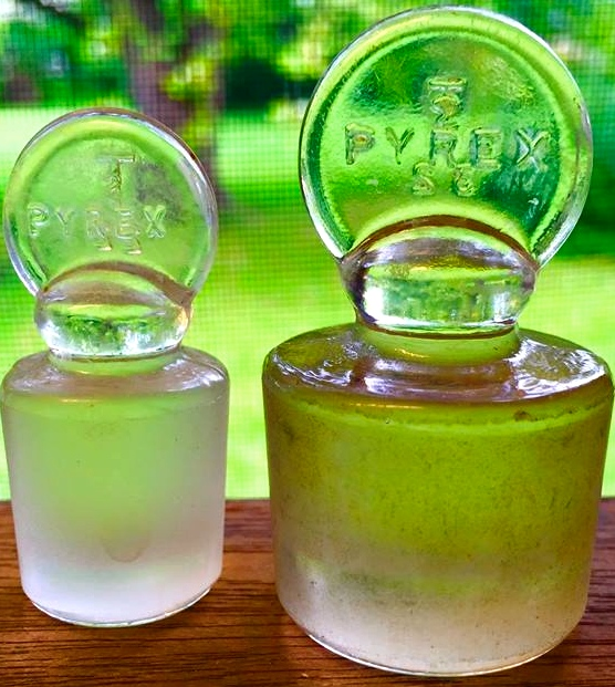 antique Pyrex bottles