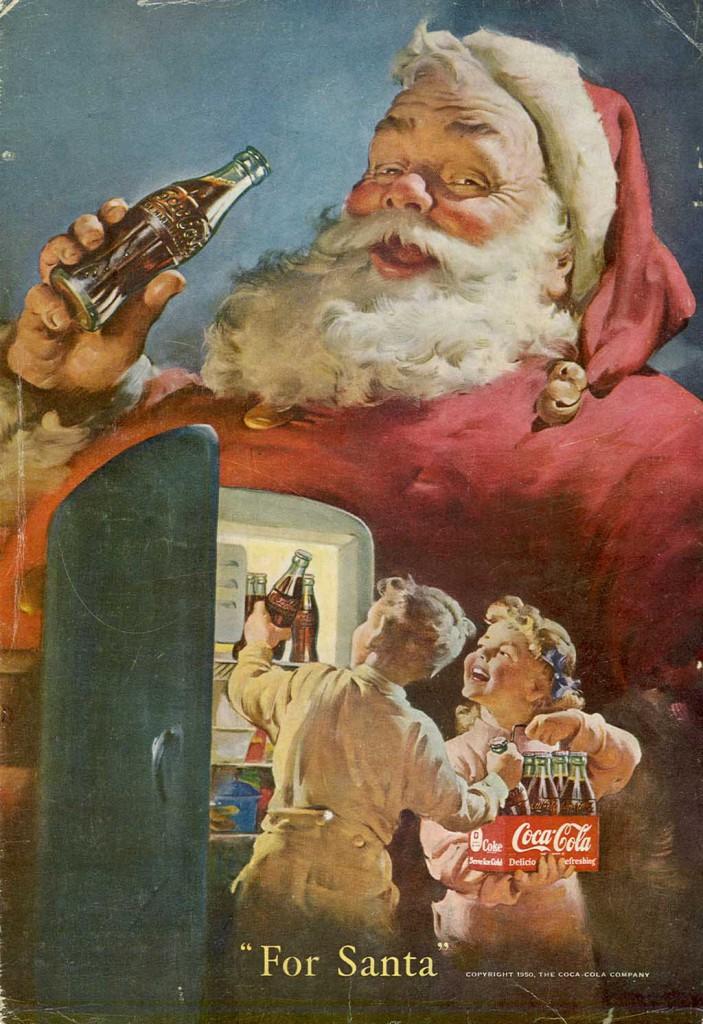 1950 Coca Cola ad with Santa Claus