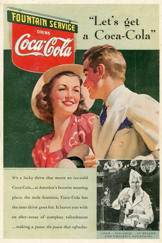 1939 Vintage Coca Cola ad