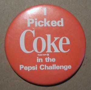1980s Coke vs. Pepsi Challenge pin