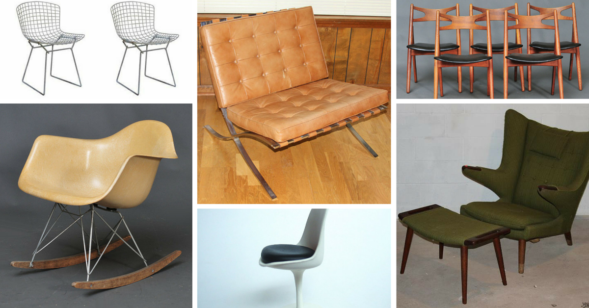 13 iconic mid century modern chairs estate sale blog for Iconic mid century modern furniture