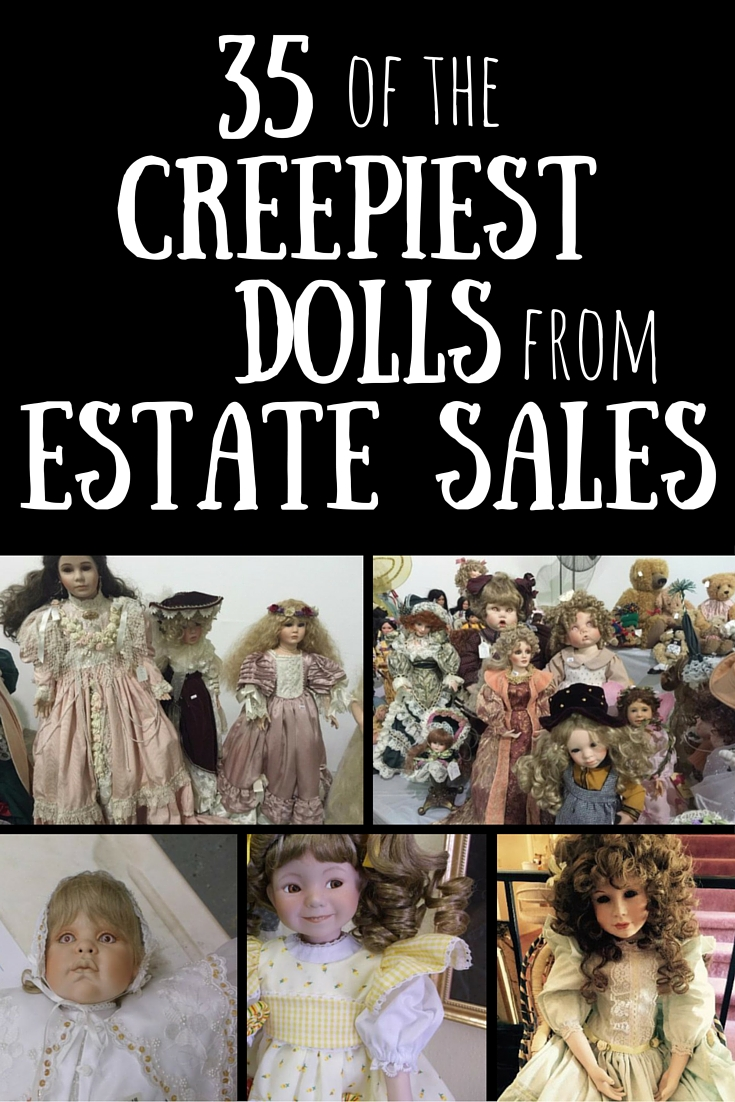 35 Creepy Dolls from Estate Sales