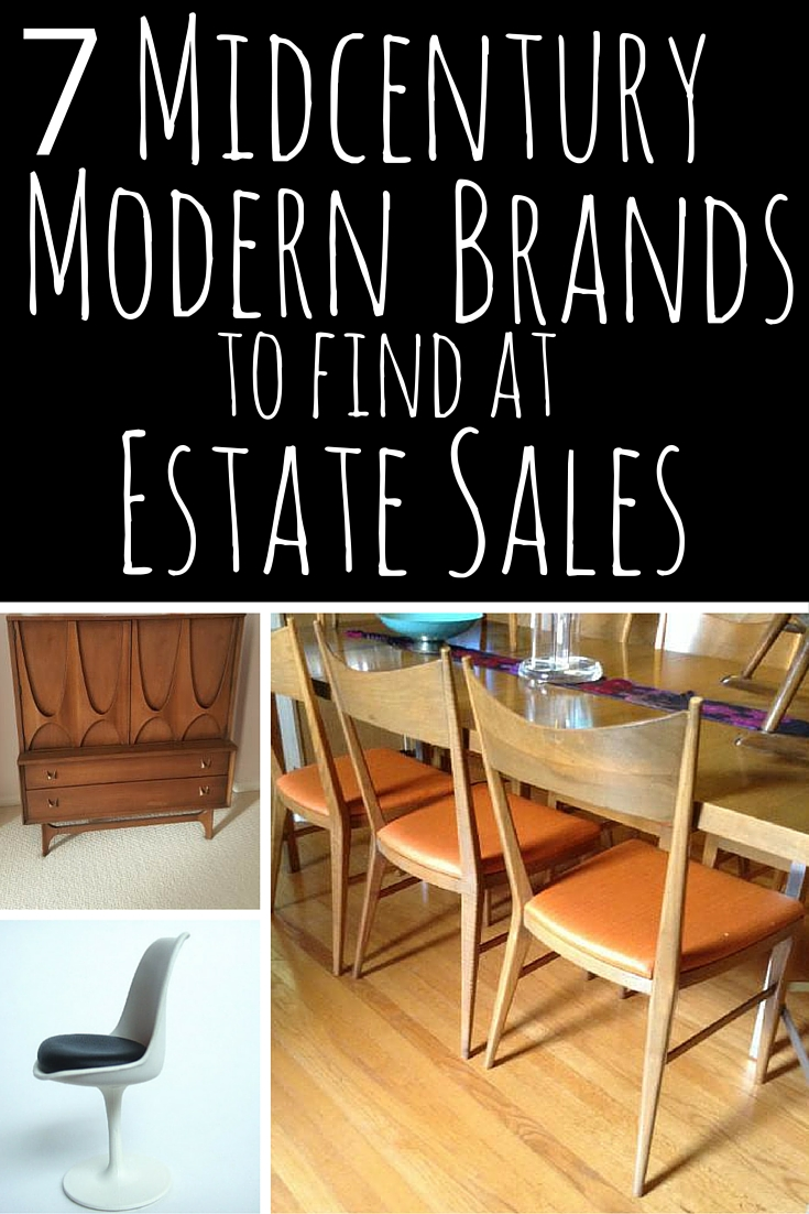 Modern Furniture Brands 7 midcentury modern brands at estate sales | estate sale blog