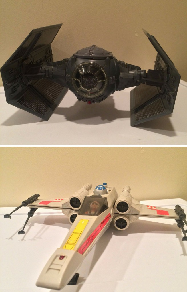 Star Wars Tie Fighter and X-wing