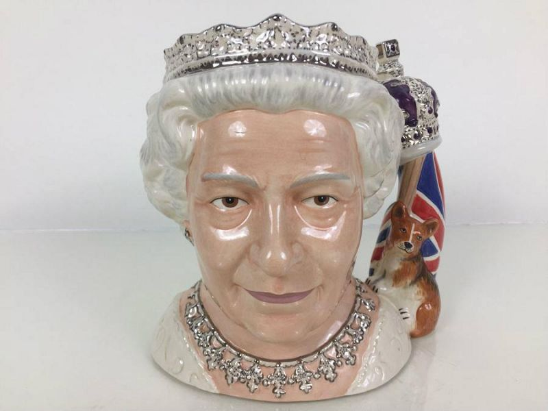 Queen Elizabeth II Royal Doulton Toby Mug