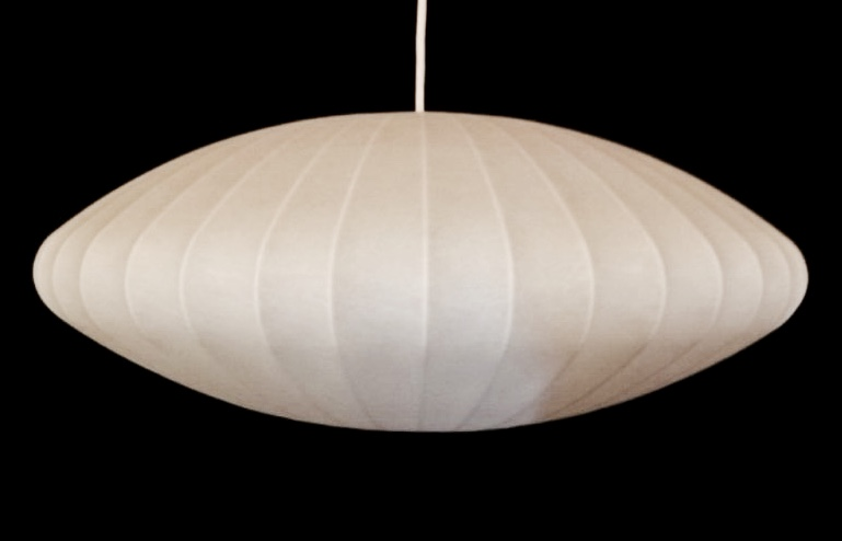 """This popular """"flying saucer"""" or """"bubble"""" lamp was designed by this artist, one of the pioneers of Modernism."""
