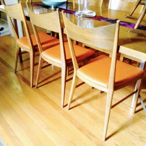 This dining set designed by Paul McCobb is made from this type of wood, which was all the rage during the midcentury and has never really gone out of style.
