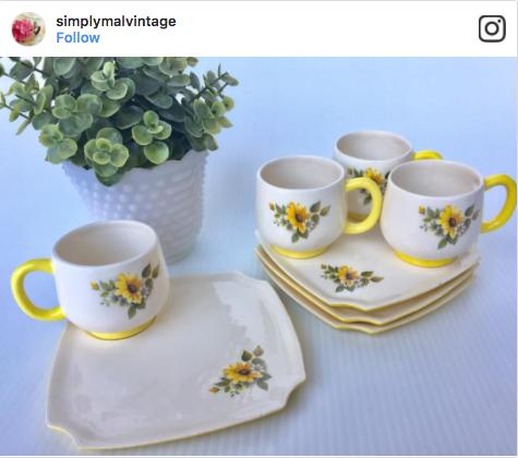 SimplyMalVintage Vintage Dishware Vignette