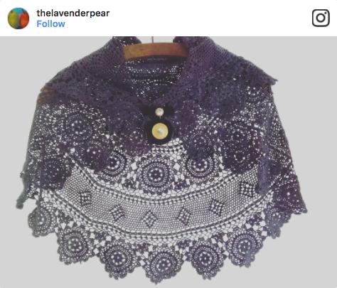 TheLavenderPear Vintage Shawl