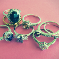 assorted vintage engagement rings