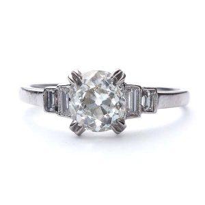 Vintage Engagement Ring_Art Deco Mine Cut Ring