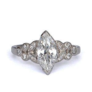 Vintage Engagement Rings_1930s marquis diamond ring