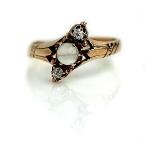 Vintage Engagement Rings_Victorian Moonstone