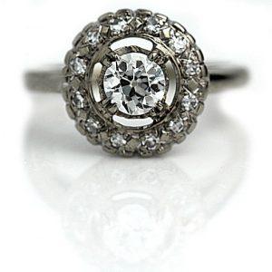 Vintage Engagement Rings_Vintage Halo Setting