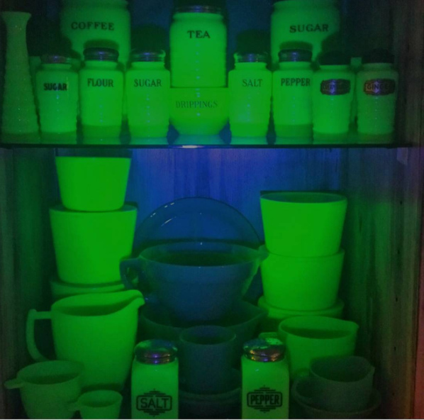 Glowing Vintage Jadeite