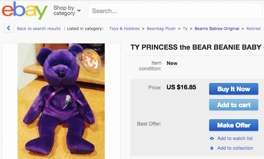 Beanie Babies Princess the BEar