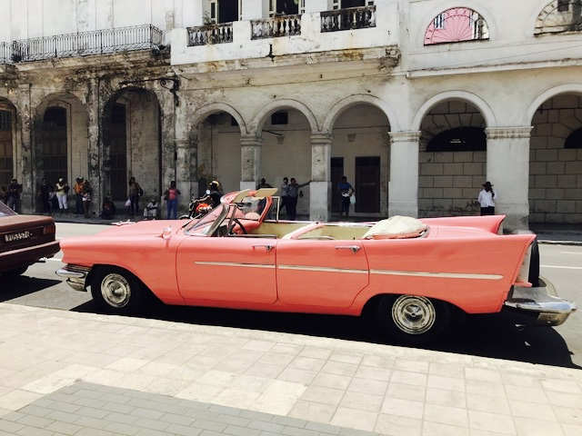 Classic Cars - Pink convertible