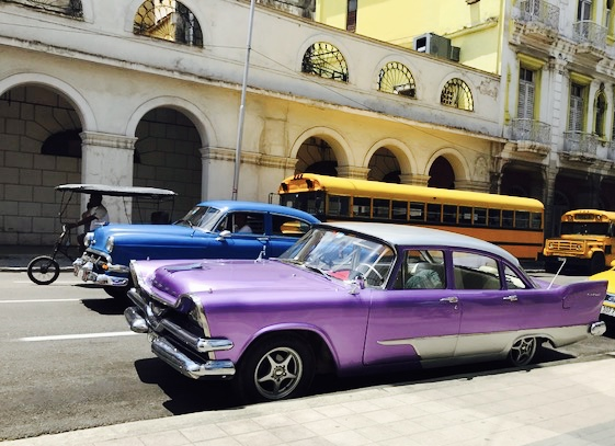 Classic cars - purple