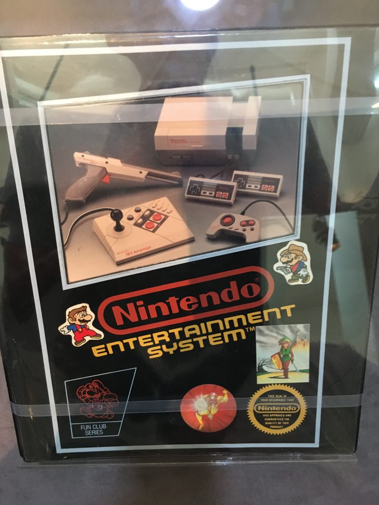 box with Nintendo Entertainment System and color photo of components