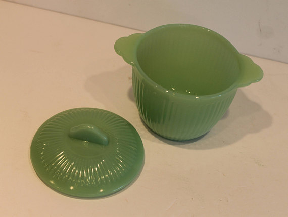 Fire King Jadite Jadeite Jade-ite Swirl Mixing Bowls Box Decal Photo