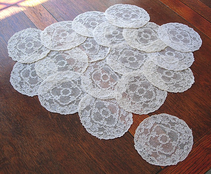 Vintage lace cocktail napkins