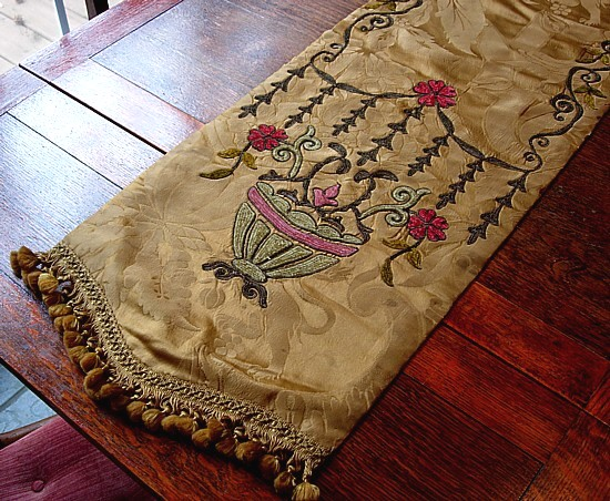 A society silk table runner