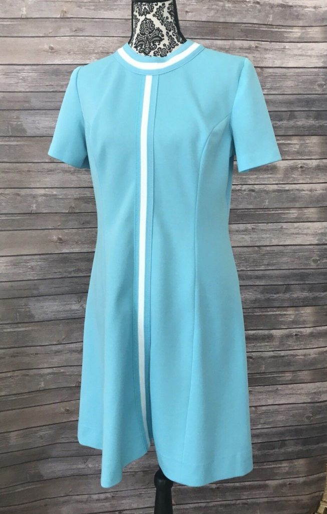 Vintage Blue Mod Dress