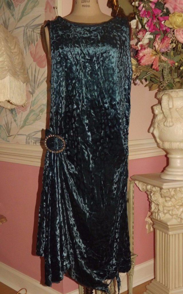 Vintage Velvet Flapper Dress