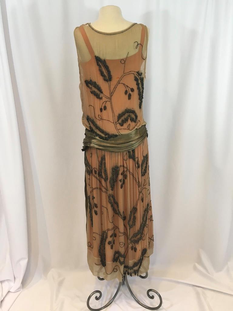 Vintage Print Flapper Dress
