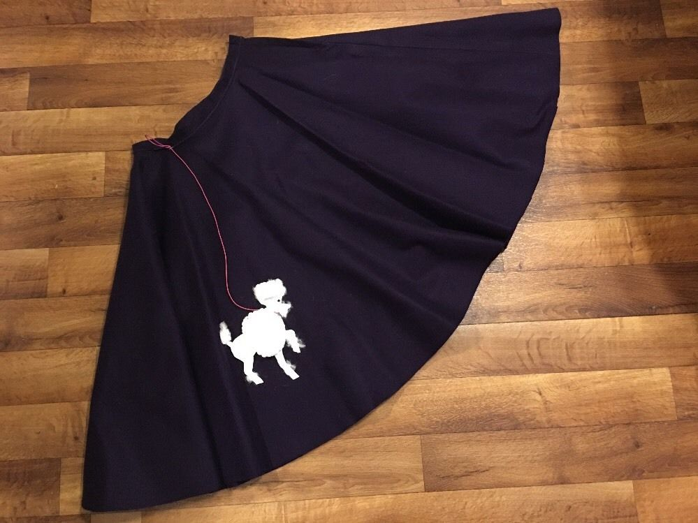 Vintage Black Poodle Skirt