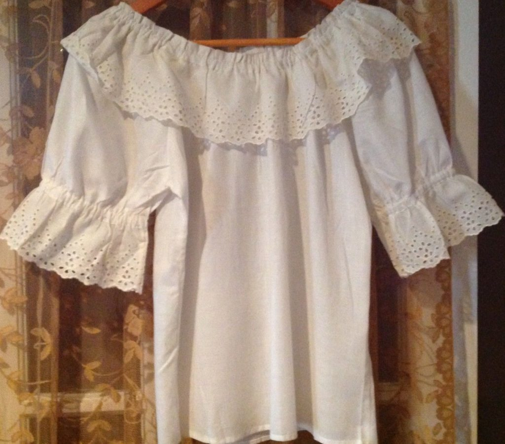 Vintage white peasant blouse