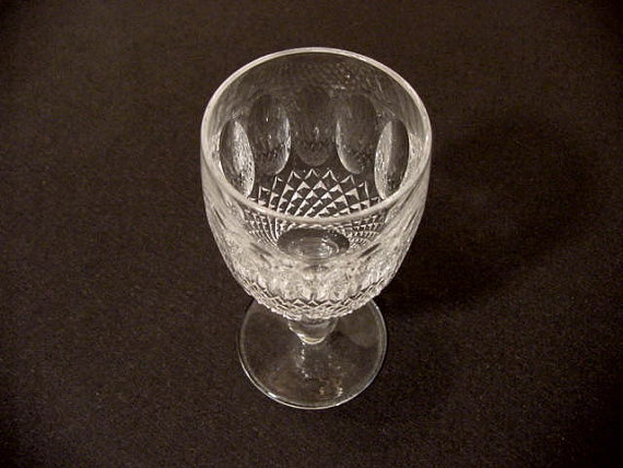 Colleen-patterned sherry glass