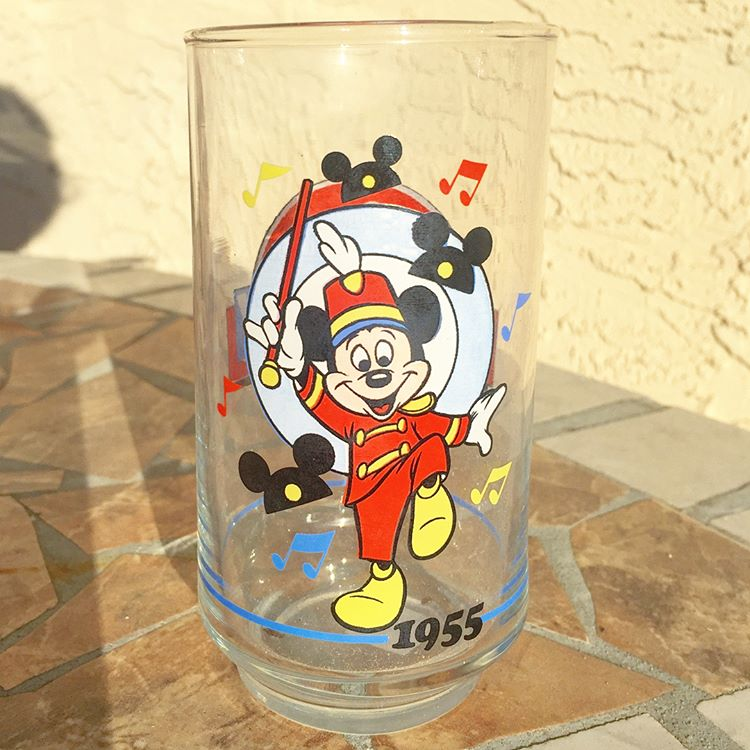 1955 Disneyland opening glass