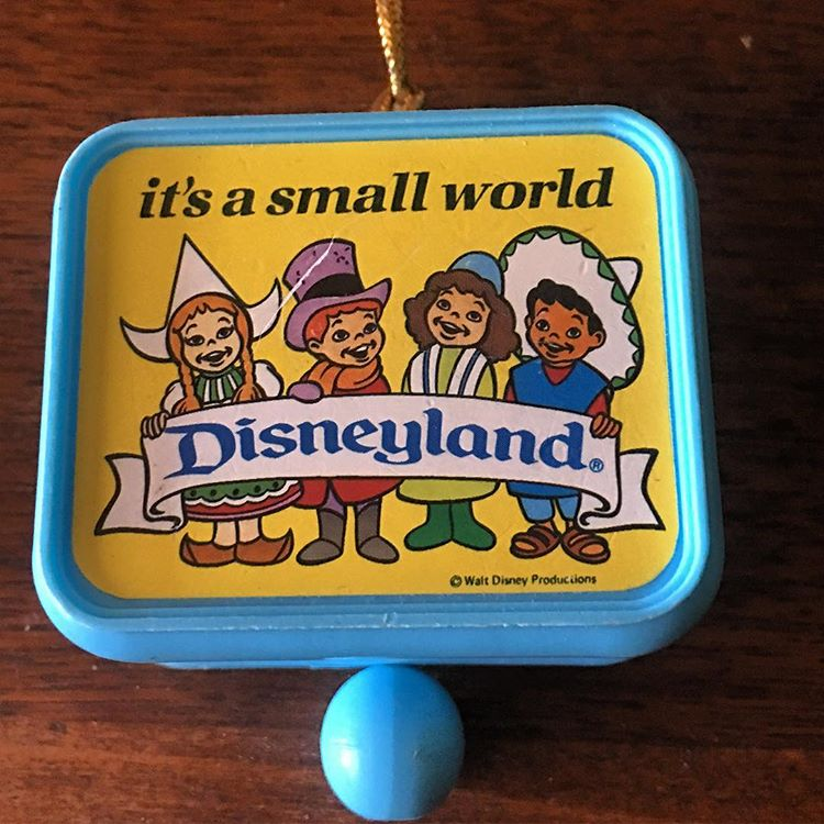 """It's A Small World"" vintage ornament"