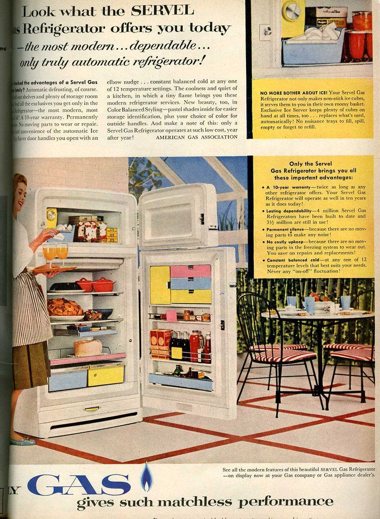 50s advertisement for refrigerator