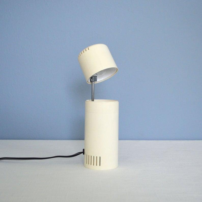 White desk lamp.