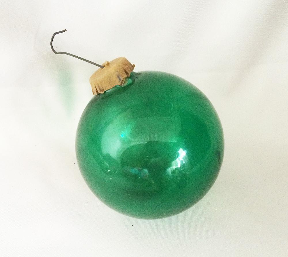 Vintage Christmas Ornaments Unsilvered Blown Glass Poland 1940s Art Deco