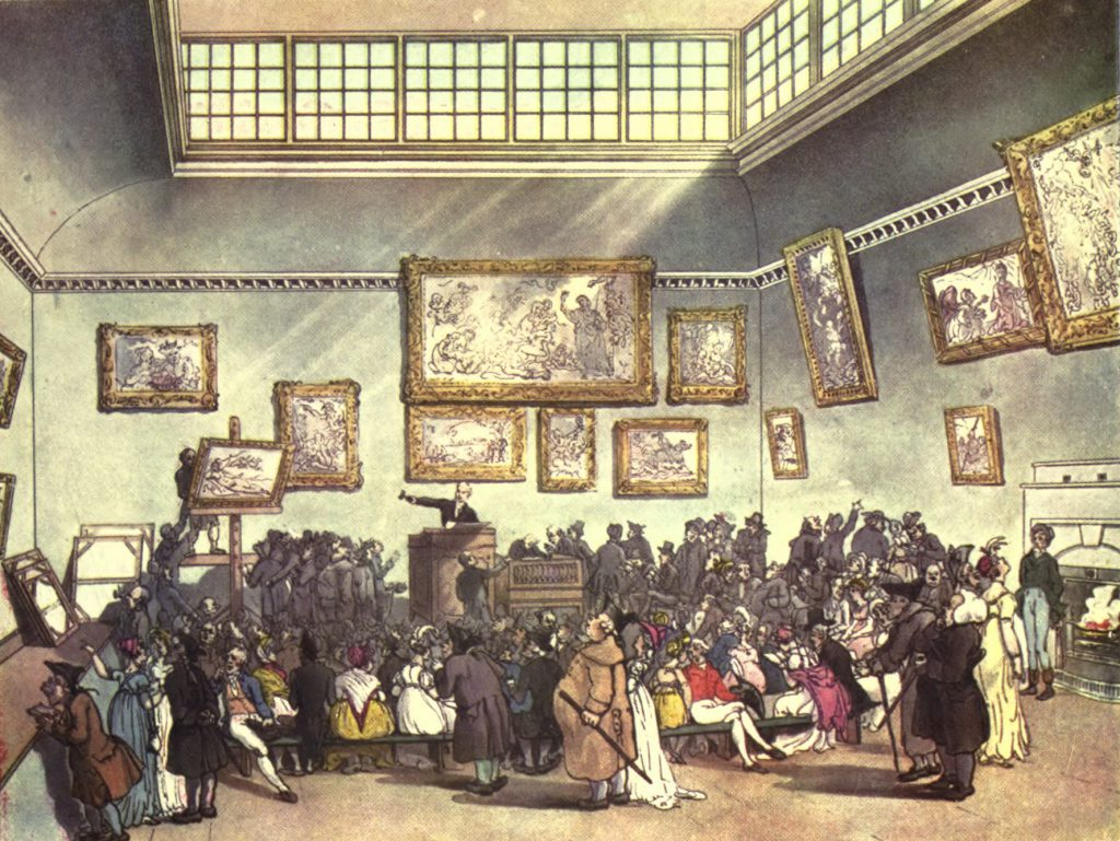 Auction at Christie's in London 1808.