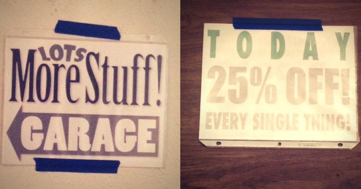 Estate Sale Signs