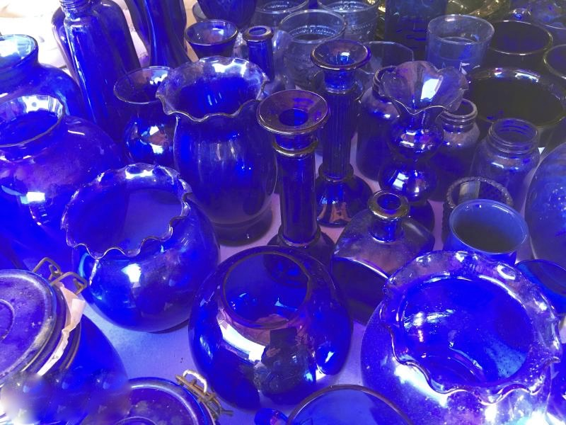 cobalt blue estate sale items
