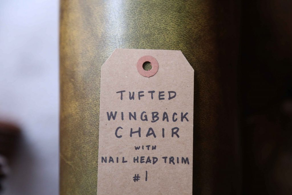 label for wingback chair