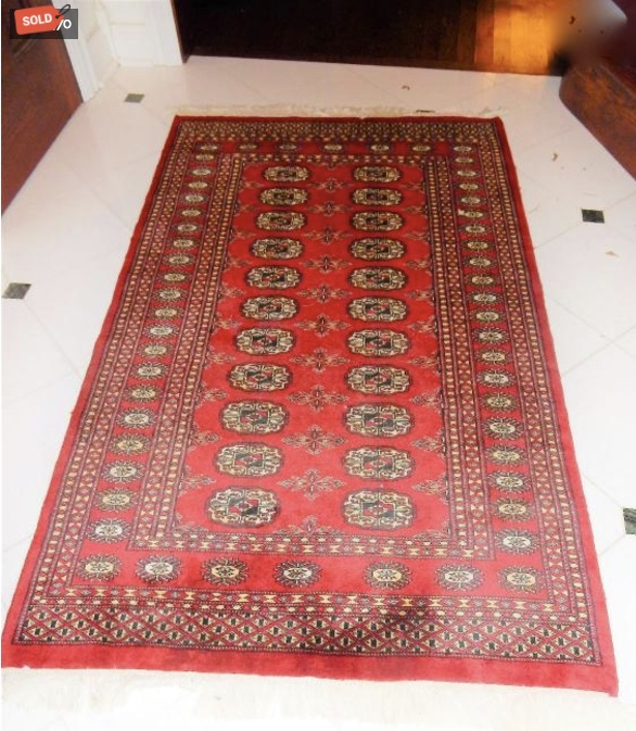 estate sale photo of sold oriental rug