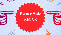 Estate Sale Signs Liquidation Signage