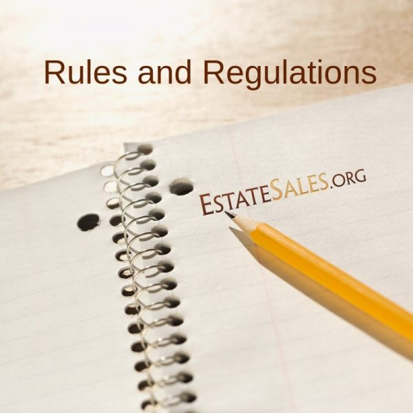 Estate Sale Guidelines and Industry Rules