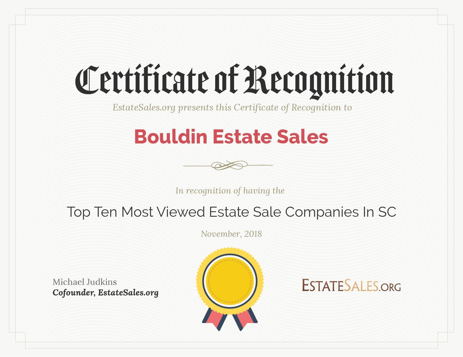 estatesales org november 2018 award winners bouldin estate sales